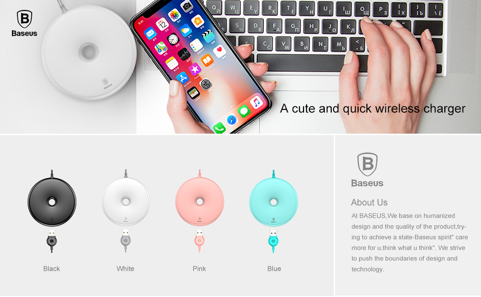 Baseus 10w Quick Charge Qi Wireless Charger For iPhone Xs Max X 8 Samsung S10 S9 Xiaomi Mi 9 Mix 3 2s Fast Wireless Charger Pad 1