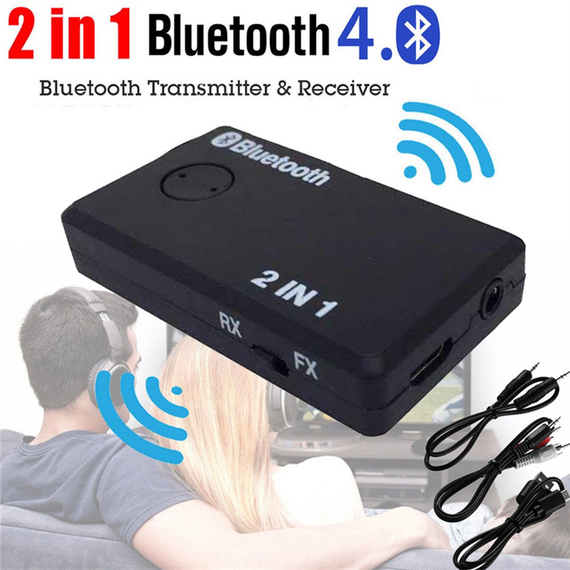 2 in 1 Wireless Bluetooth Transmitter A2DP Receiver Stereo Audio Music Adapter Bluetooth Music Adapter USB Power Cable #F30NT05 bluetooth
