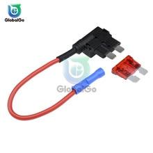 12 В микро/мини/стандартный размер держатель предохранителя автомобиля Add-a-отвод цепи адаптер с 10А Микро Мини стандарт ATM лезвие предохранитель