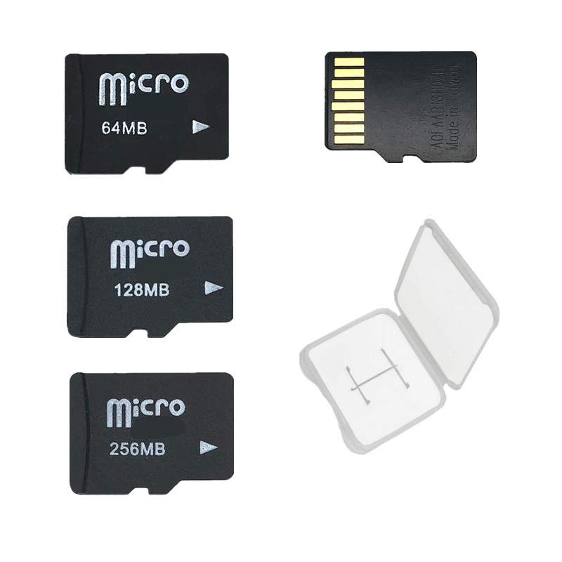 With Free Case!! 10PCS/LOT 64MB 128MB 256MB 512MB Micro Card SD TF Card Memory Card For Cellphone (Secure Digital)