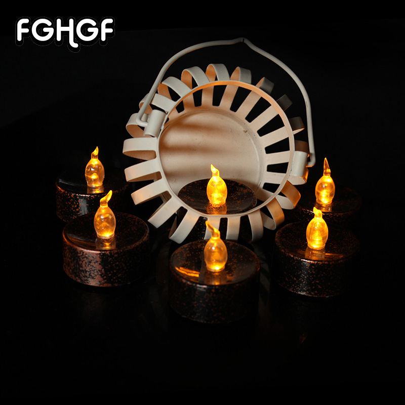 24 Pcs Flameless LED Candles Black Battery-Powered , Flickering Led Tea Wax Lights Candle For Birthday Wedding Decoration
