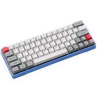 DHL Бесплатная GK64 механическая клавиатура 64key металлический корпус на заказ свет rgb Cherry профиль kecap dye subbed keycaps