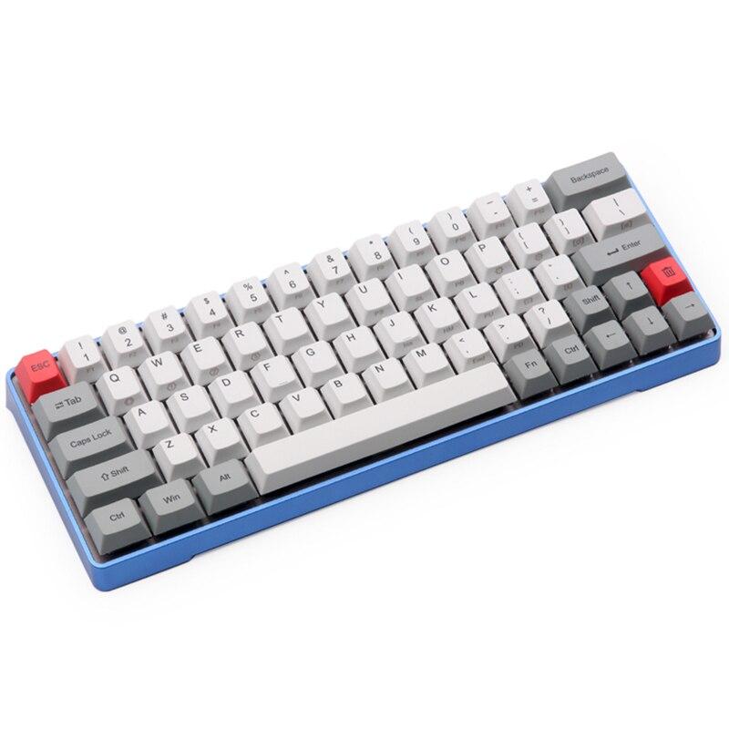 Dhl livraison gratuite GK64 Mécanique clavier 64key métal shell personnalisé lumière rgb cerise profil kecap colorant-subbed keycaps