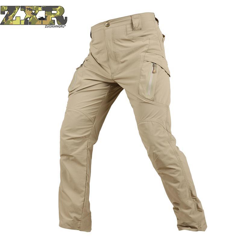 Gehorsam Zuoxiangru Tactical Cargo Hosen Männer Kampf Swat Army Military Hosen Baumwolle Viele Taschen Stretch Flexible Mann Casual Hosen Mild And Mellow