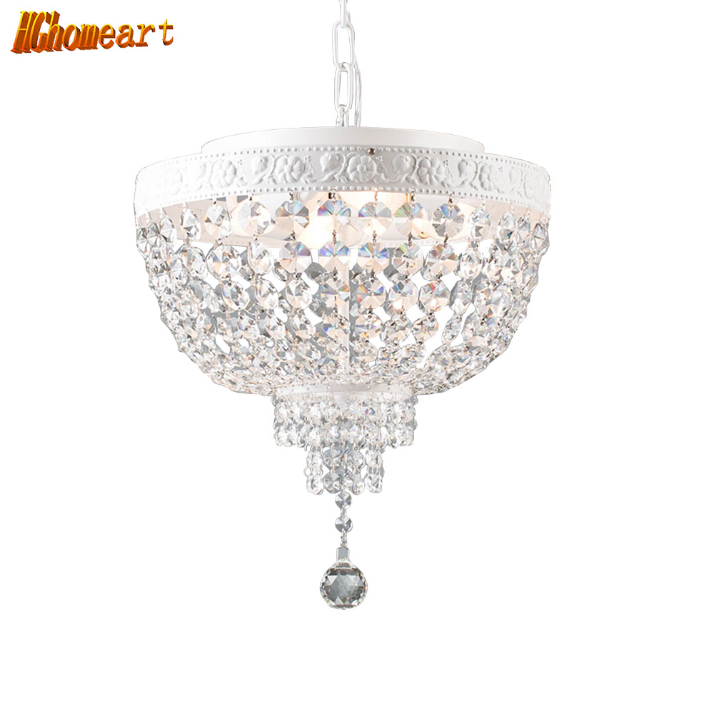 HGHomeart Fashion Crystal Chandelier LED Creative Chandeliers Lustre Suspension Kids Room Lamp Lighting Flower hghomeart cartoon kids room chandelier led luminaria room iron chandelier lighting creative eye bird chandeliers for the bedroom