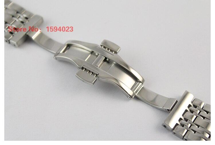 Ремешок для часов, ширина 19 мм, для мужчин, твердый, нержавеющая сталь, Бабочка, пряжка, ремешок для часов T085410A T085407A, для часов T085, аксессуары