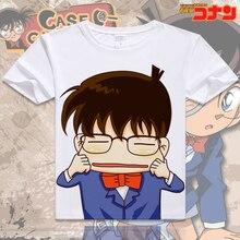 2017 summer anime Detective Conan estilo Coreano hombre traje de cosplay mujeres camiseta ocasional de la corto