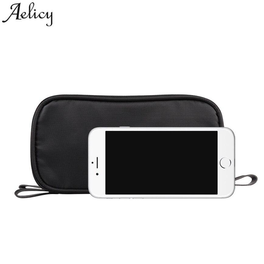 Aelicy Small Cosmetic Bags Women Portable Travel Wash Storage Bag Zipper Nylon Cloth Lady Handbags Female Makeup Bag S30