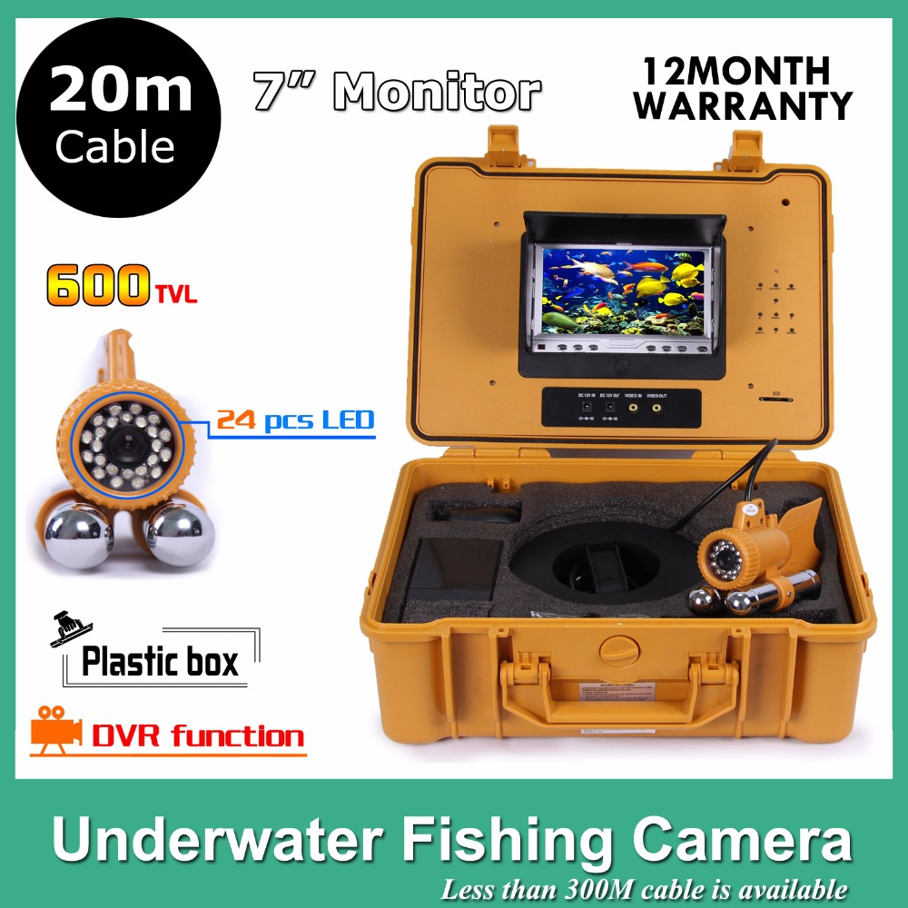 7 TFT LCD Underwater Video Fish Finder System With 600TVL Underwater Camera Cable 20M Cable рубашка casino casino mp002xm0w4rt