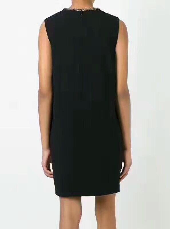 Mince De Unique Derss Festa Soirée Robes Bureau Incroyable Noir Élégant Femmes Robe D'été Qualité Partie Col Bref 2017 Haute 4wTAq8Wat