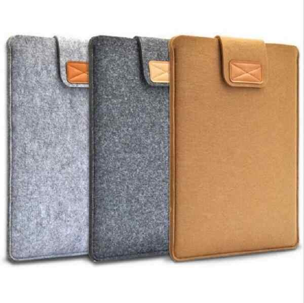プレミアムソフトスリーブバッグケースノートブックカバー用 11in 13in macbook/ラップトップ/タブレット pc ファッション純粋なフェルト