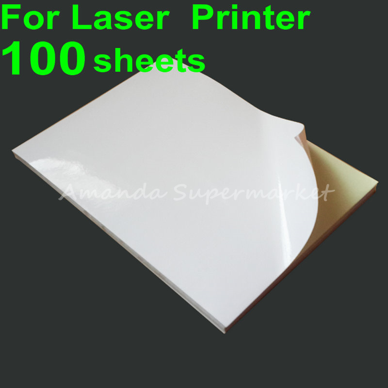 A4 Sticker Paper A4 Label Paper 100 sheets Glossy Matte Face Adhesive Strength For Laser  Printer Inkjet Printer Тостер