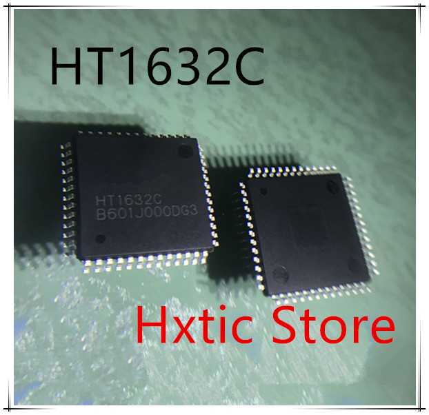 10pcs/lot HT1632 HT1632C LQFP52 LED Dot Matrix Driver Chip IC