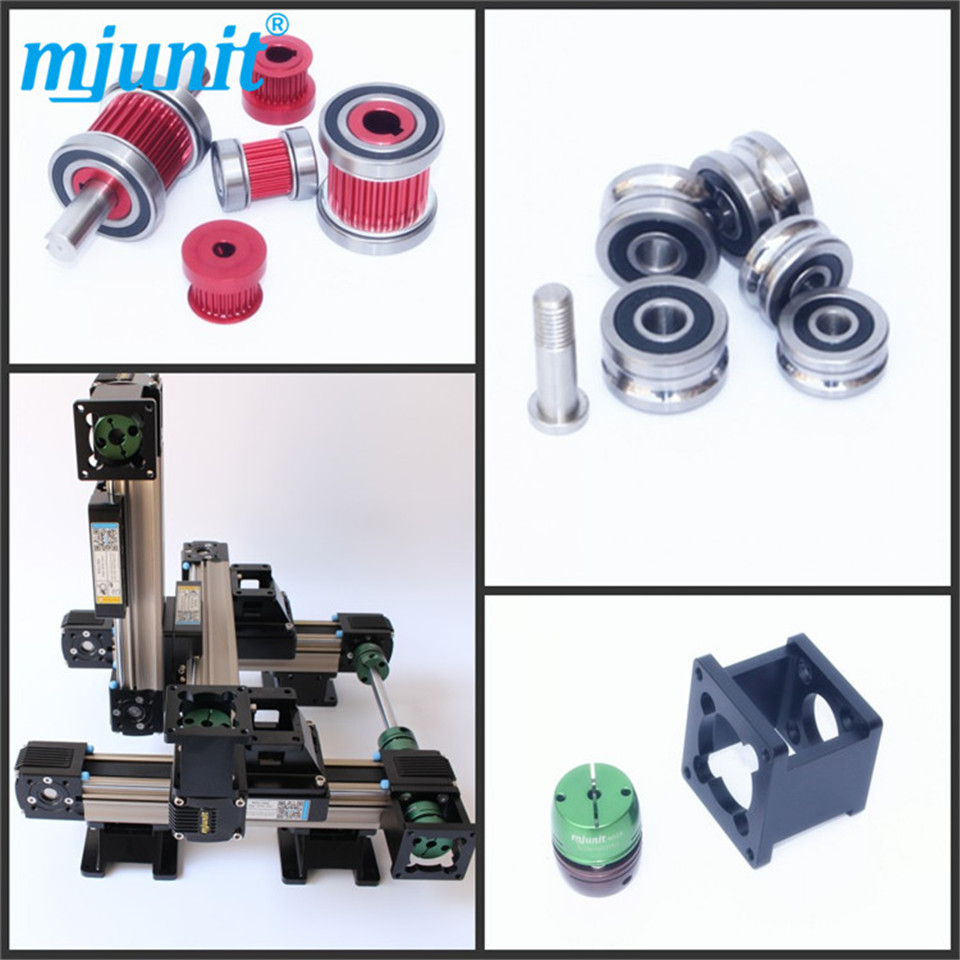 toothed belt drive rail guideway manufacturer motorized Stepper Motor Positioning linear stage linear axis with toothed belt drive belt drive linear rail reasonable price guideway 3d printer linear way
