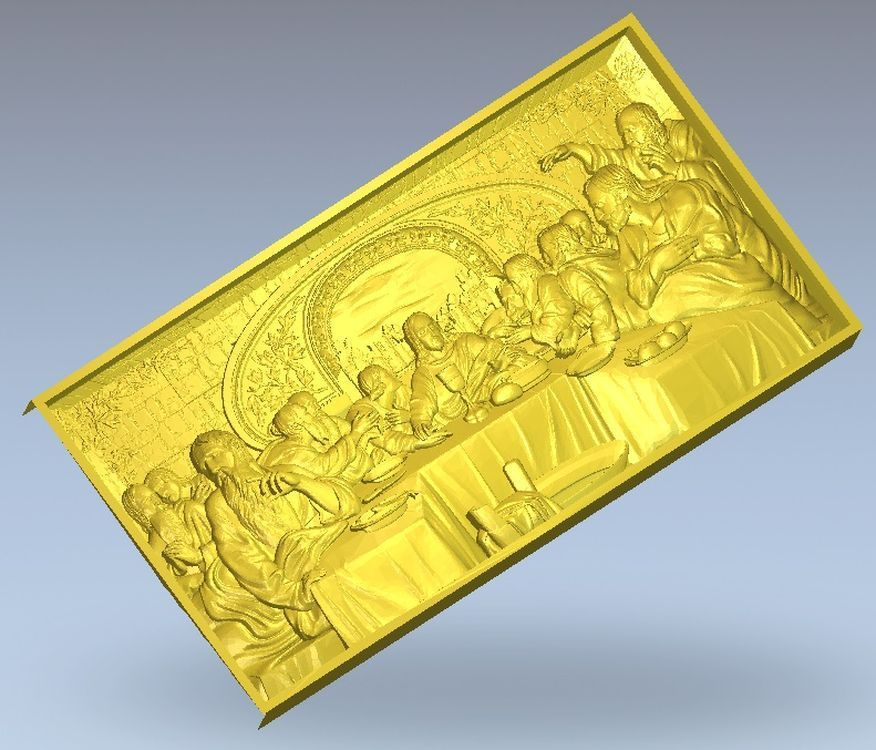 3d Model Relief Panno_Last_Supper For Cnc In STL File Format