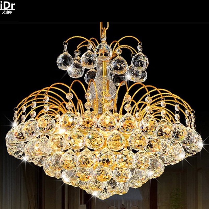 European modern LED crystal lamps living room lamp creative bedroom lamp study hall lighting gold Chandeliers Lmy-0186European modern LED crystal lamps living room lamp creative bedroom lamp study hall lighting gold Chandeliers Lmy-0186