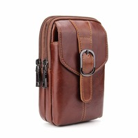 Hongmeng Belt Clip Holster PU Leather Pouch Sport Bags 2 Pockets Universal Holster Phone Case For