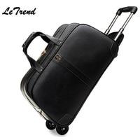 Fashion Luxury High grade Waterproof Cowhide Travel Bag Men Genuine Leather Trolley Bag Hand Boarding Luggage Trunk