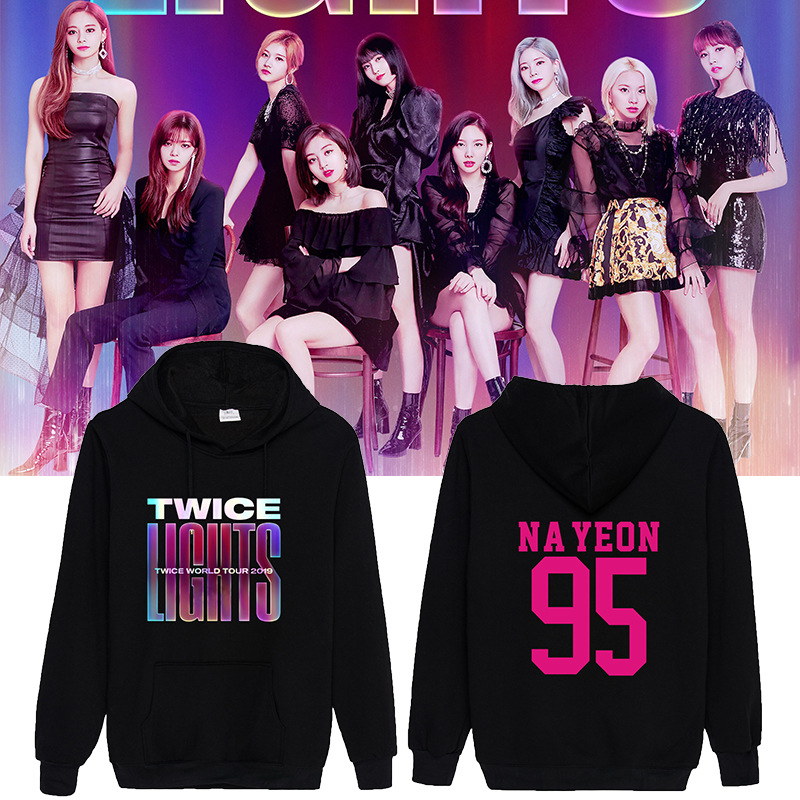 2019 Dropshipping TWICE WORLD TOUR 2019 Concert With Men And Women Hoodies
