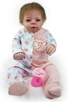 22 55 см reborn полный Силиконовый розовый одежда ручной работы составить куклы купать ребенка реалистичные vivid игрушки для детей подарок на ден