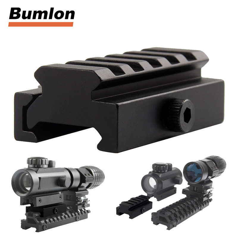 Low Profile QD Mount Adaptor 20mm Weaver Picatinny Rail Mini Block Riser Mount With Quick Release for Red Dot or Scopes 1-0010 target solar power t1 t 1 red dot with riser mount and low mount tan ipsc hs403c hs503c