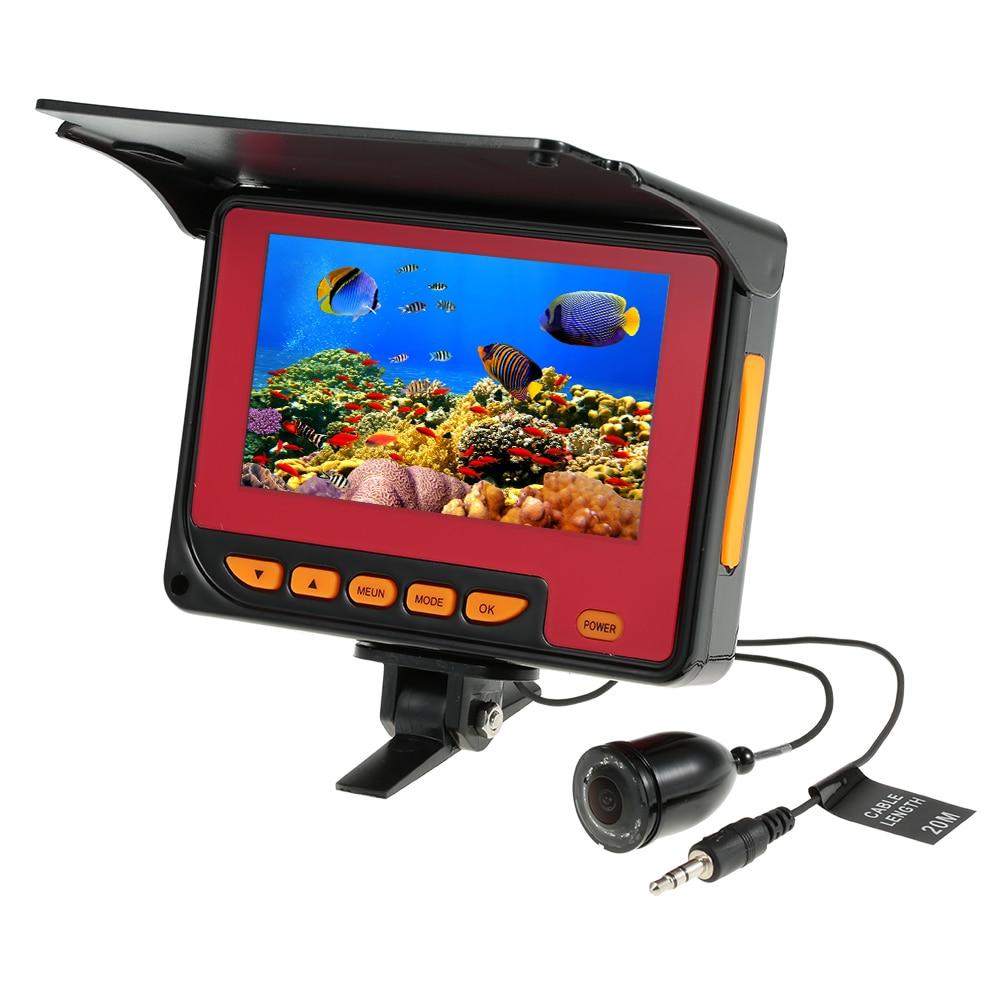 Underwater Fishing Camera 4 3 Digital LCD 1000TVL Fish Finder HD IR LED 20M Cable EU