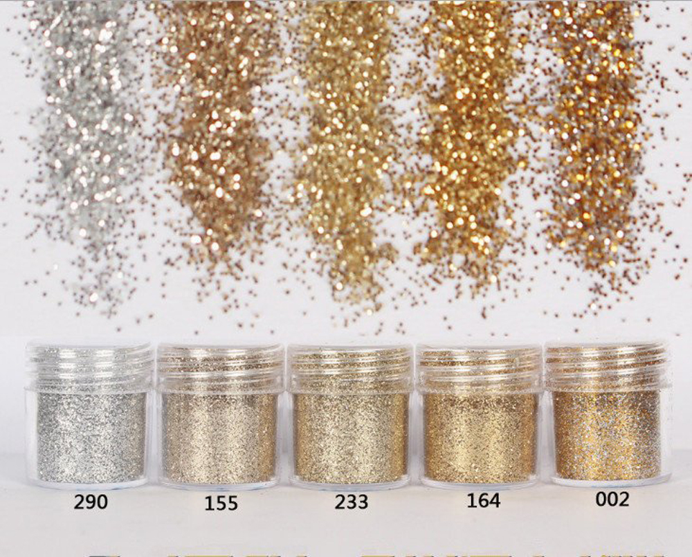Image 2 - 4pcs/set(4color /set) X10ML mix Nail Art Glitter Powder,0.2mm 1mm 2mm glitter 3D Nail Art Decoration For nail art decoration,45-in Nail Glitter from Beauty & Health