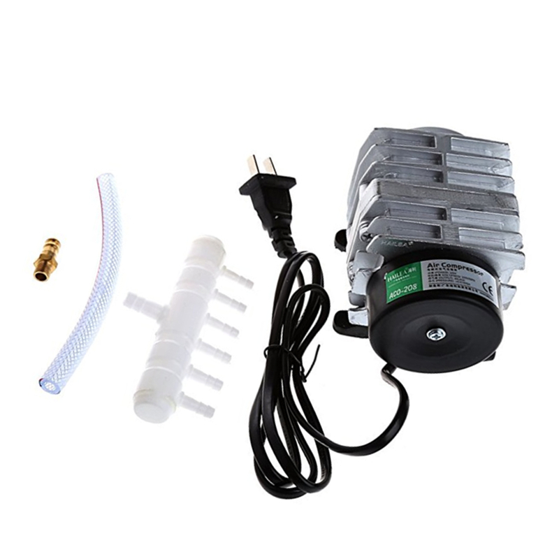 220V Electromagnetic Air Compressor Portable Koi Fish Tank Bubble Aquarium Air Pump Pond Aerator 25W/30W/35W/45W
