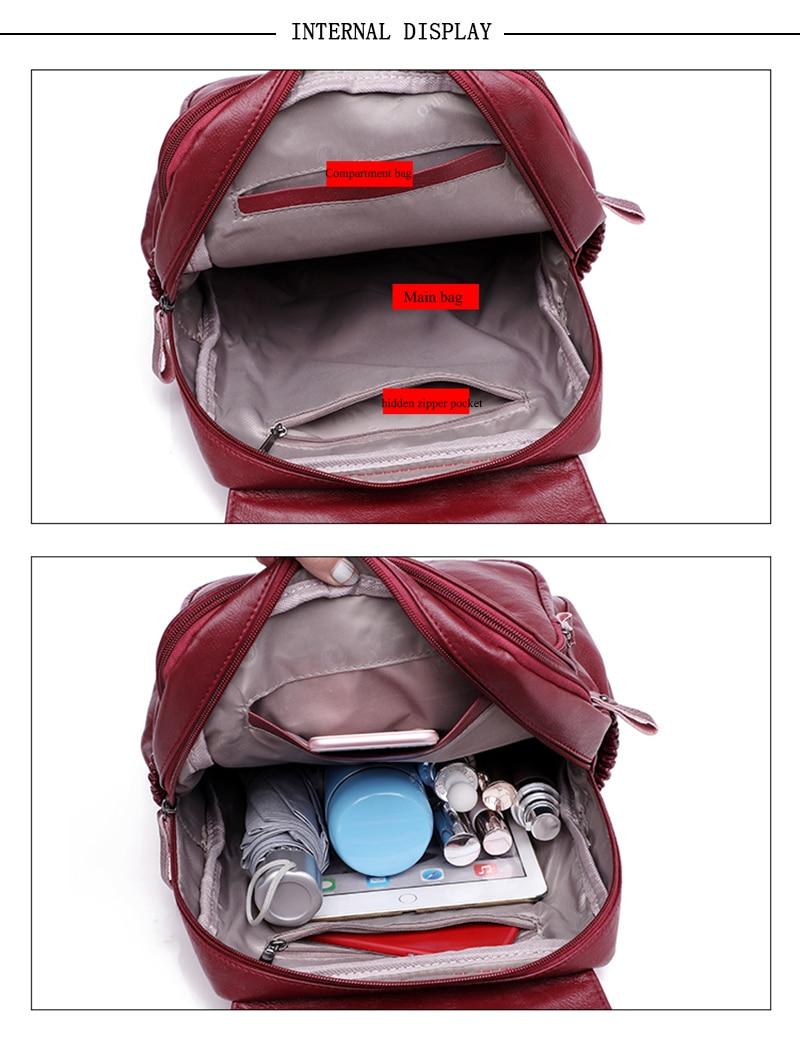 HTB1o4Ydrf1TBuNjy0Fjq6yjyXXaK LANYIBAIGE 2018 Women Backpack Designer high quality Leather Women Bag Fashion School Bags Large Capacity Backpacks Travel Bags