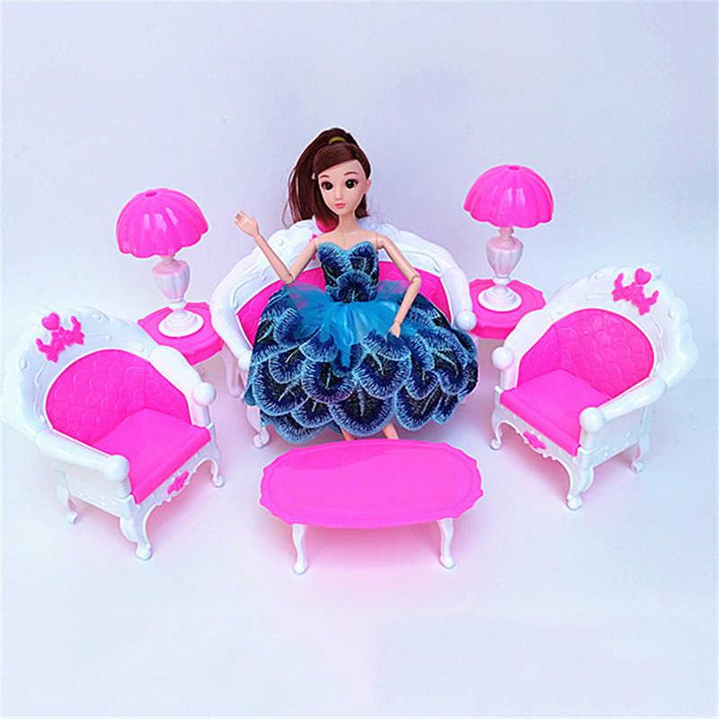 Мебельные наборы для украшение для кукольного домика пластмассовое кресло-качалка Аксессуары для дивана детские игрушки мебель новая