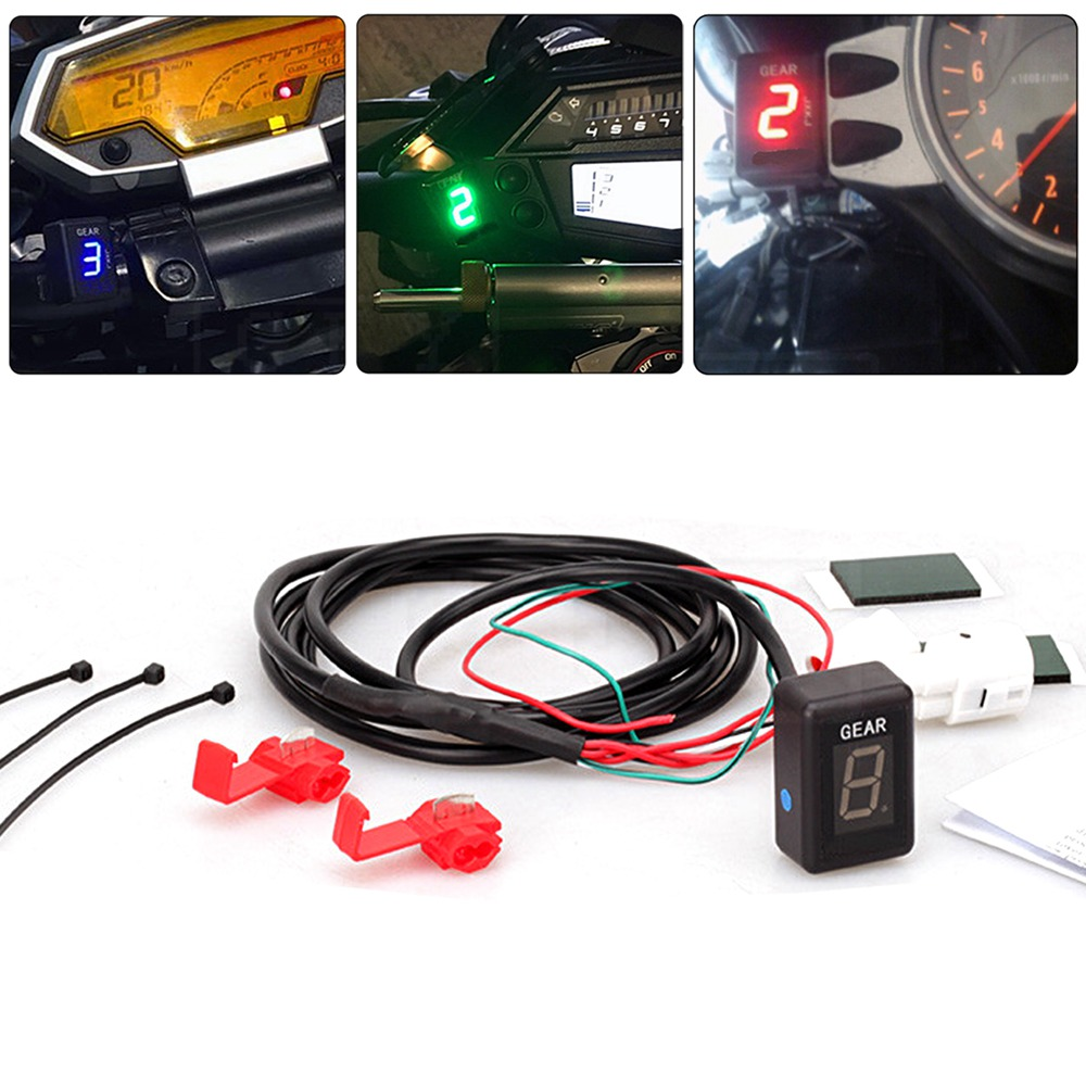Motorcycle LCD Electronics 6 Speed 1-6 Level Gear Indicator Digital Gear Meter For Yamaha FZ16 FZ400 FZ6 FZ6R XJ6 XJR400 YS250 motorcycle lcd electronics 6 speed 1 6 level gear indicator digital gear meter for harley touring road king electra street glide