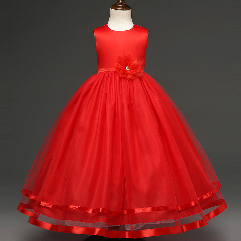Girl Dress TuTu Bubble Dresses Ball Gown 2018  Rose Princess Children Wedding   New Year Evening Party Clothes TriTrust new year formal gown princess summer 2017 new party dress girl children clothing prom wedding kids clothes girls tutu dresses
