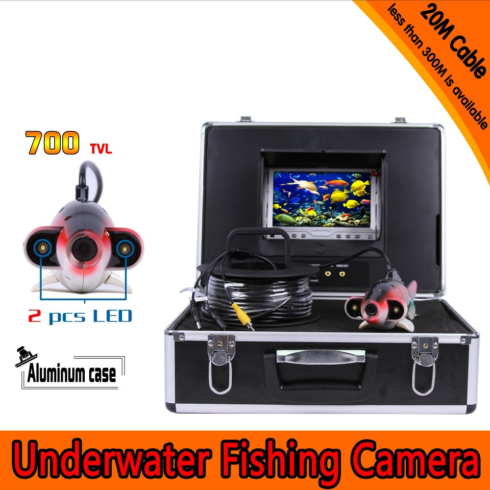 Free shipping Fish Shape Underwater Fishing Camera Kit with 20Meters Depth Cable & 7Inch TFT LCD Monitor & Hard Plastics CaseFree shipping Fish Shape Underwater Fishing Camera Kit with 20Meters Depth Cable & 7Inch TFT LCD Monitor & Hard Plastics Case