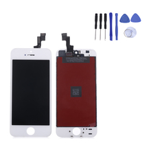 4 inch pantalla for lcd iPhone 5s Lcd display Touch Screen Digitizer Assembly Replacement for iPhone5S Middle Frame Free Tools