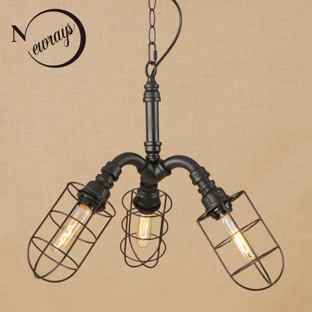 Vintage iron metal silver pendant lamp LED 3 lamp Pendant Light Fixture E27 110V 220V For Kitchen Lights hotel room bar parlor