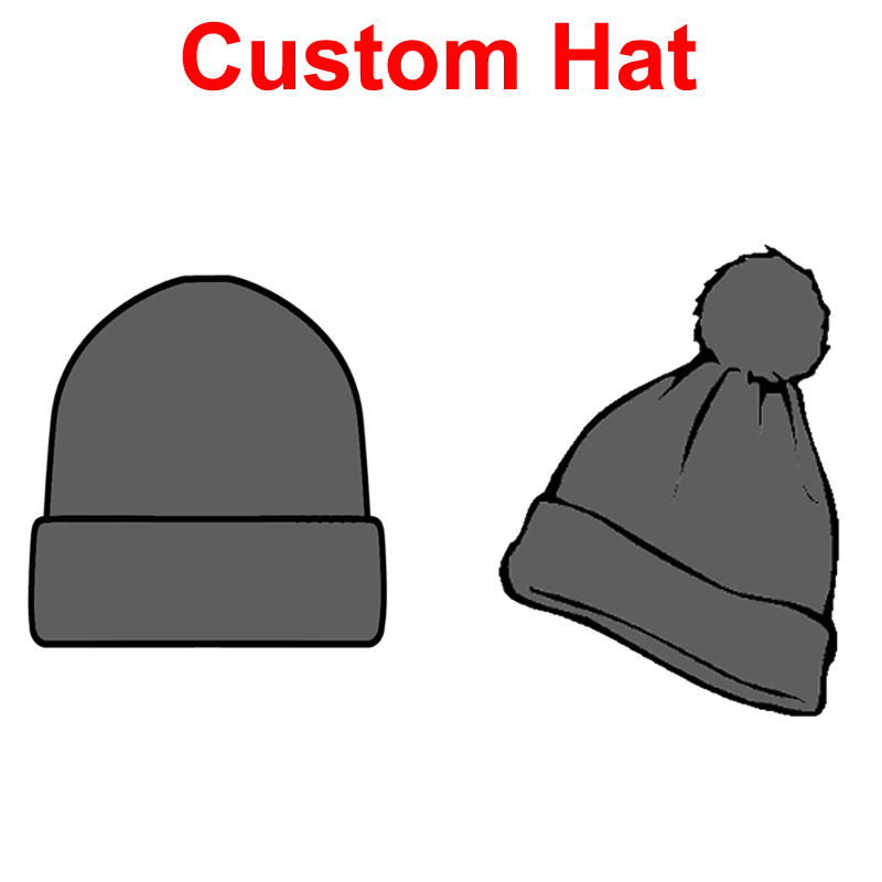 952348e09f1 Customized Beanies Knitting Hats Embroidery LOGO Custom Winter Skullies  With Ball Adults Patch Cap LOGO Patch-in Skullies   Beanies from Men s  Clothing ...