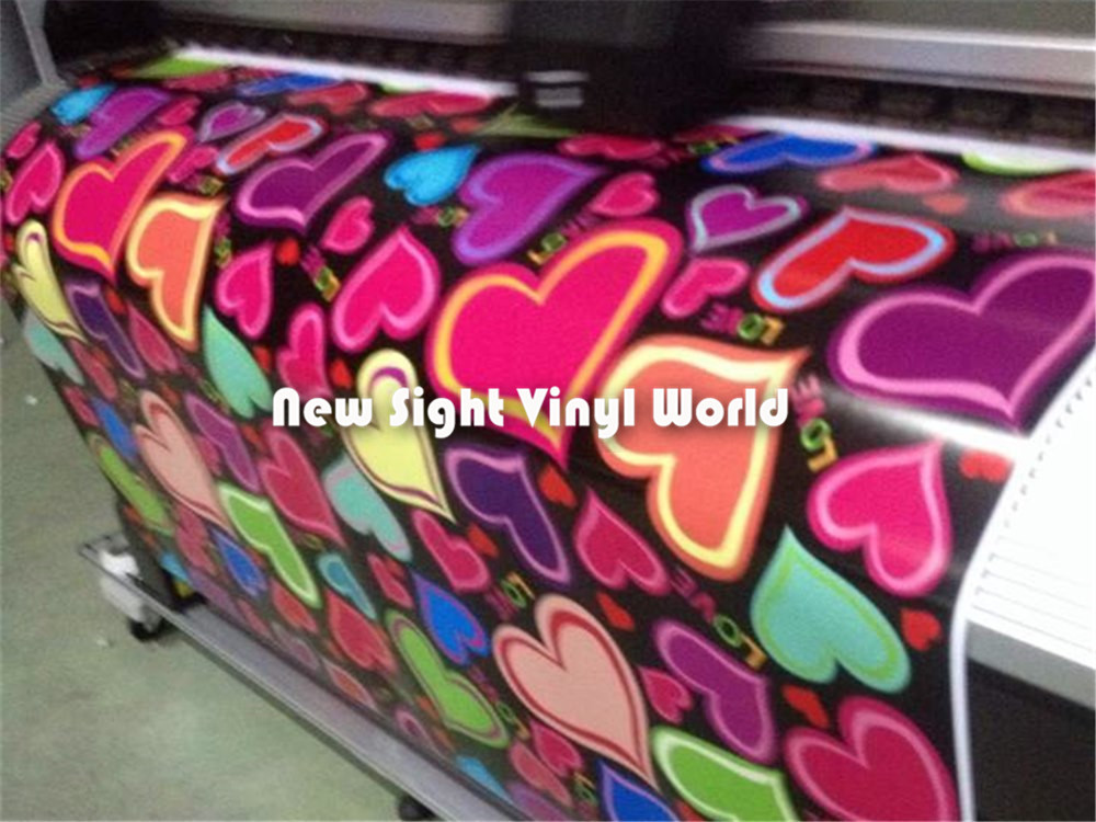 Sweet love heart sticker bomb vinyl film heart shaped love sticker bombing car wrap bubble free auto graphics size1 5030m roll in car stickers from