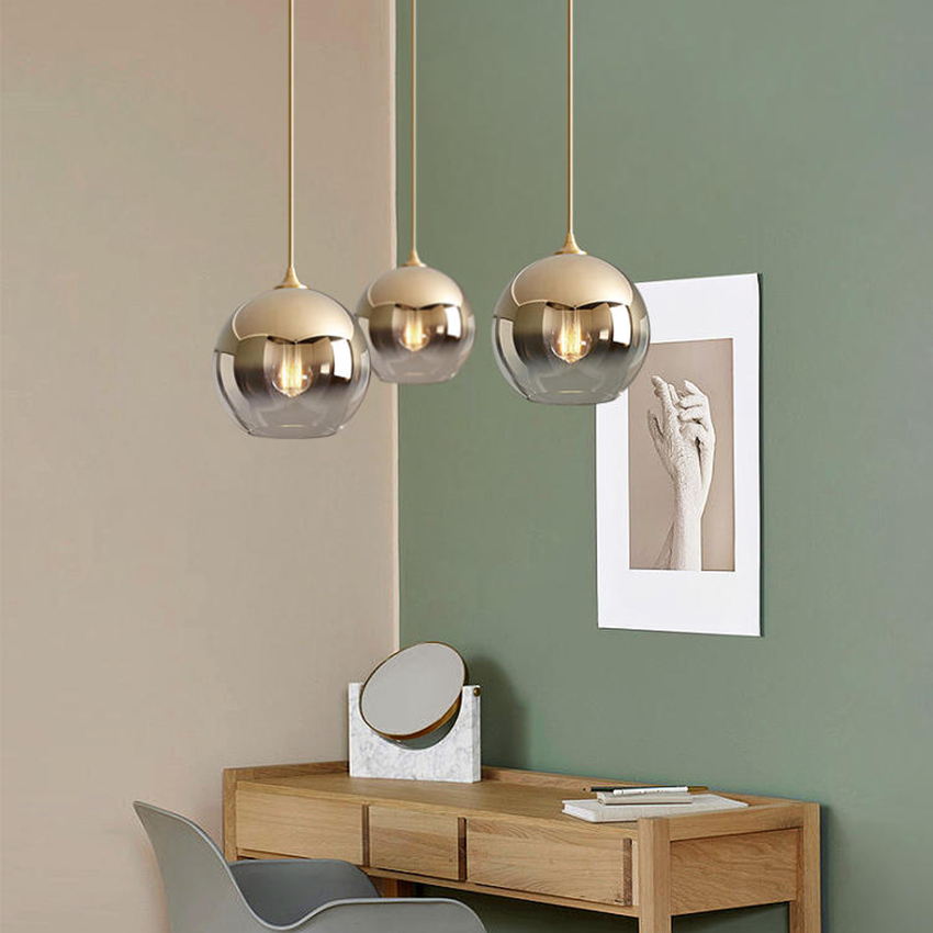 Post-modern Loft Led Pendant Light Glass Ball Pendant Lamp Living Room Restaurant Kitchen Fixtures Luminaire Suspension LightingPost-modern Loft Led Pendant Light Glass Ball Pendant Lamp Living Room Restaurant Kitchen Fixtures Luminaire Suspension Lighting