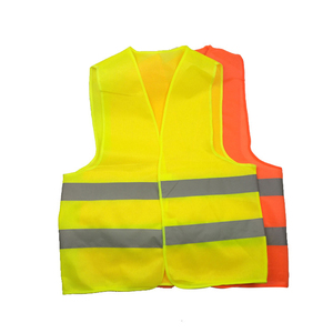 Image 1 - High Visibility Yellow Vest Reflective Safety Workwear for Night Running Cycling Man Night Warning Working Clothes Fluorescent