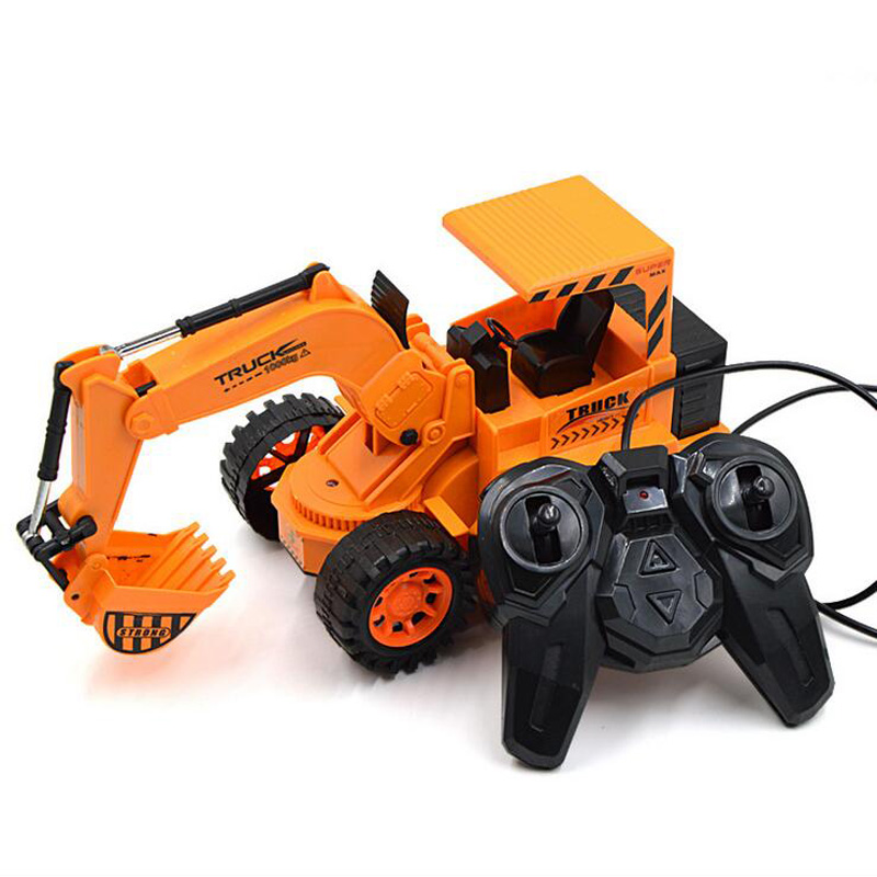 For Birthday Christmas Party 6 Channel Children s Toys Wired Remote Control With Light Excavator Gift