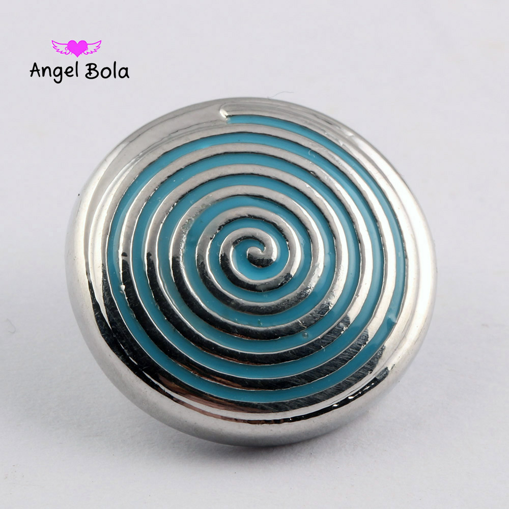 10pcs/lot18mm Snap Interchangeable Jewelry spiral Snap Charm Crystal Button Jewelry