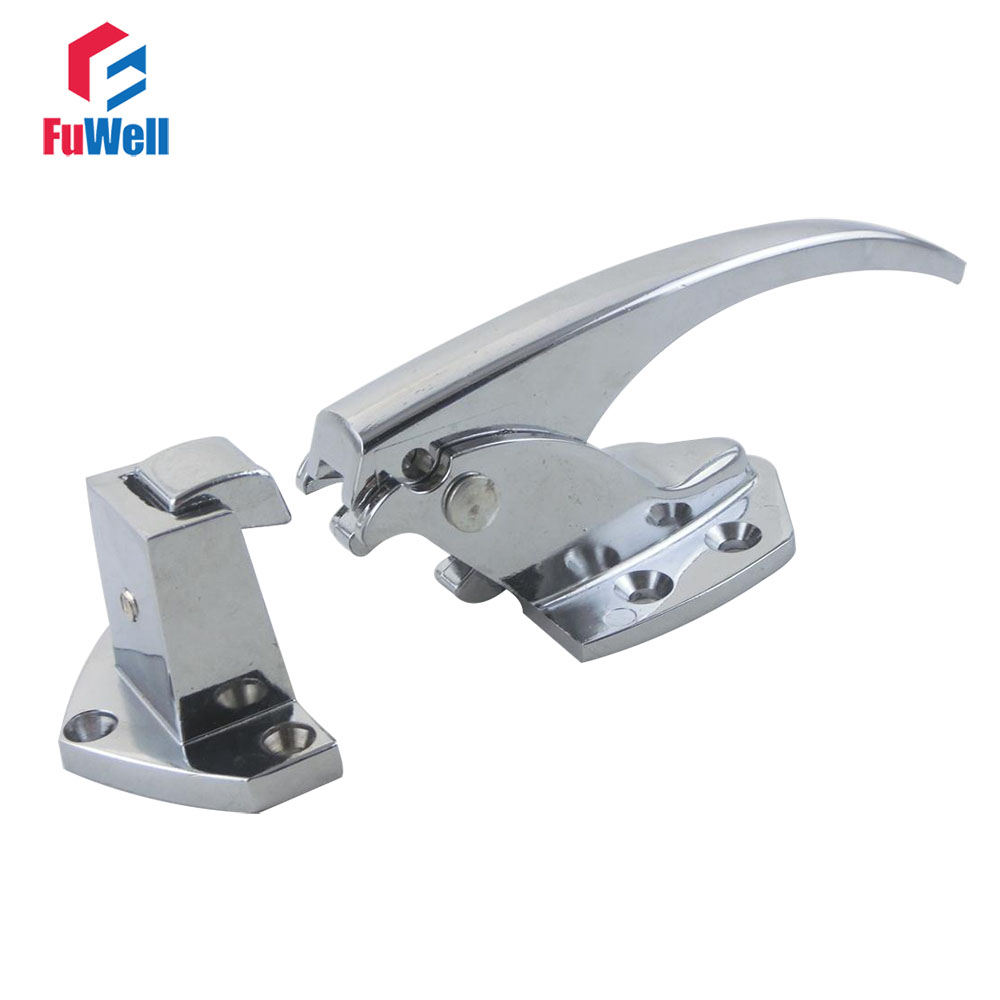 1pc Zinc Alloy Oven Door Handle Lock Adjustable Height 33-43mm Spring Loaded Pull Handle Latch for Refrigerator Freezer1pc Zinc Alloy Oven Door Handle Lock Adjustable Height 33-43mm Spring Loaded Pull Handle Latch for Refrigerator Freezer