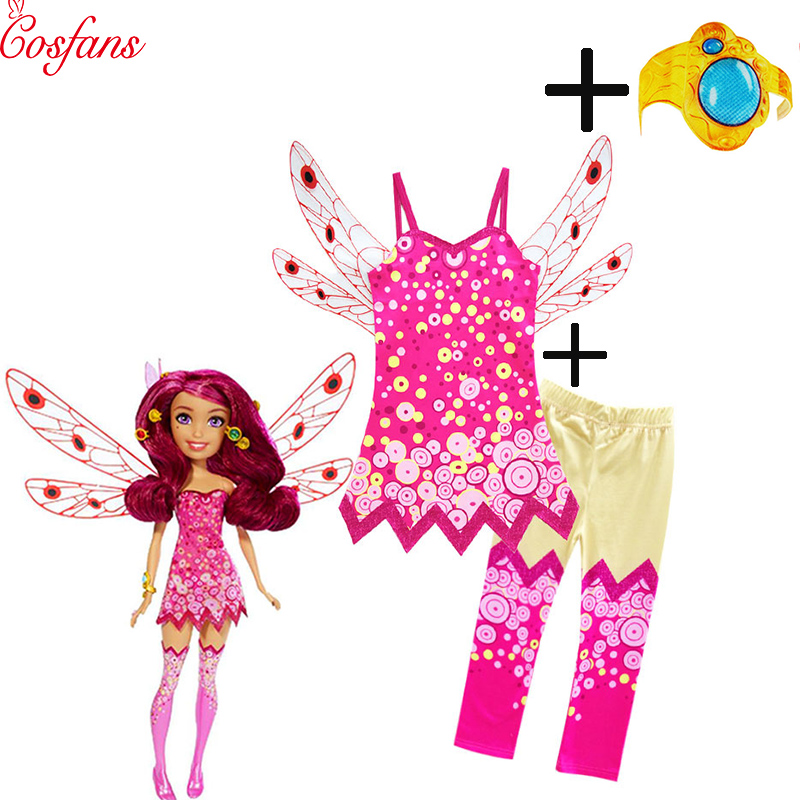 Children Clothing Sets MIA Halloween Cosplay Costumes Girls Kids MIA AND ME Birthday Party Carnival Clothes Mia Hand Ring 2019