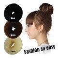 Cheap + Frete grátis das Mulheres da Menina QUENTE Coque Anel Donut Shaper Hair Styler Maker 3 Cores 3 Tamanhos EQ6018