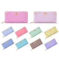 2018 10 Color Fashion Sailor Moon Samantha Vega Luna Cat Wallet Kawaii Long Purse Cute Ladies PU Leather Wallet