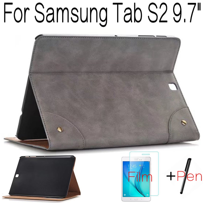 Подробнее о Ultra-thin Retro Smart PU Leather Cover Case for Samsung Galaxy Tab S2 T810 T813 T815 T819 9.7