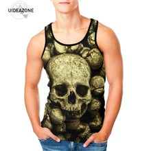 cc49b4112a36d UIDEAZONE Tank Top Men Skull 3D Printed Casual Fitness Tank Top Men s  Clothing Slim Bodybuilding Vest Tops Men