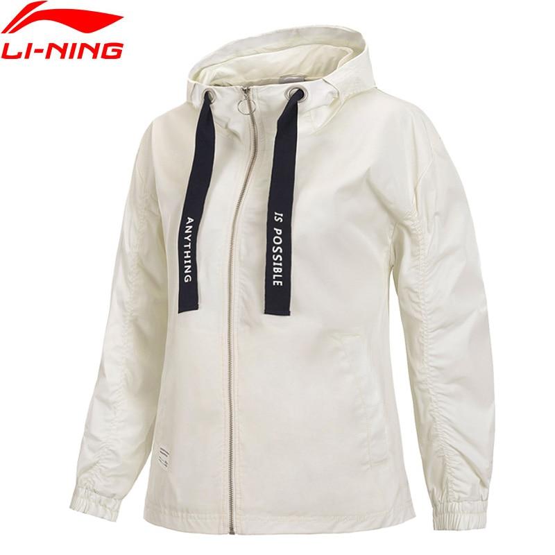 Li Ning Women The Trend Sports Windbreakers Loose Fit 100 Polyester Zipper Closure LiNing Sport Coat