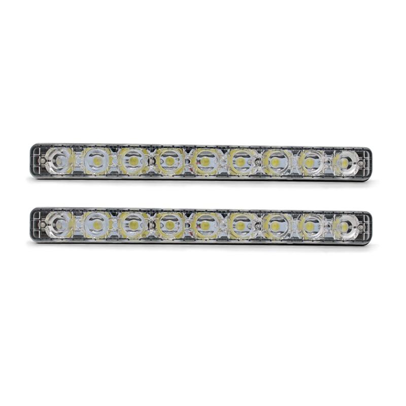 SUNKIA 12 LED DRL Styling externích světel Vysoký / nízký paprsek Hliníková výstraha Jízdní mlhové světlo Auto LED Denní světlo