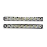 High Bright 12LED DRL Car Styling External Lights High Low Beam Aluminum Warning Driving Fog Lamp